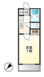 神奈川県川崎市高津区溝口3丁目の賃貸アパートの間取り