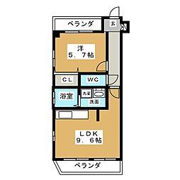 プロビデンス筒井[2階]の間取り
