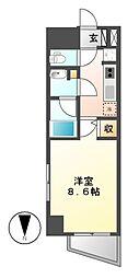 エルスタンザ徳川[6階]の間取り