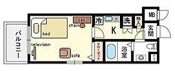 家具・家電付DCエスタディオ博多[5階]の間取り