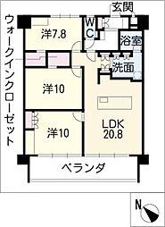 U・TOPIA TOWER[9階]の間取り