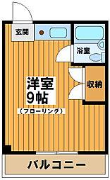 東京都渋谷区西原2丁目の賃貸マンションの間取り