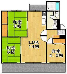 輝国住宅[2階]の間取り