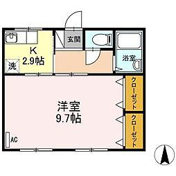 新浜マンション[101号室]の間取り