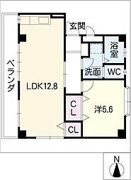 ファミールK[3階]の間取り