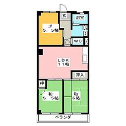 サンパレスマンション[2階]の間取り