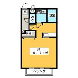 レジデンスコート ヤナゼ[1階]の間取り