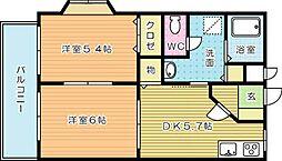 プレジデントタカヤVI A棟[1階]の間取り