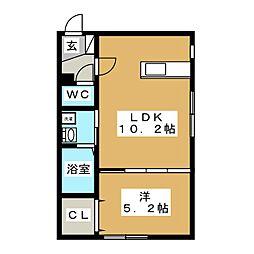 アルーアNANGO[1階]の間取り