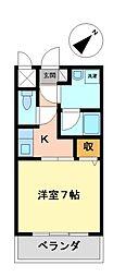 愛知県名古屋市中村区宿跡町2丁目の賃貸マンションの間取り