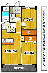 福岡県北九州市小倉北区大畠3丁目の賃貸マンションの間取り