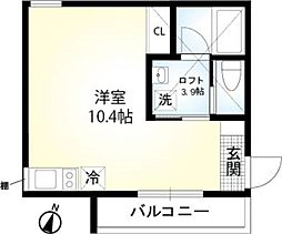 相鉄本線 二俣川駅 徒歩7分の賃貸アパート 2階ワンルームの間取り