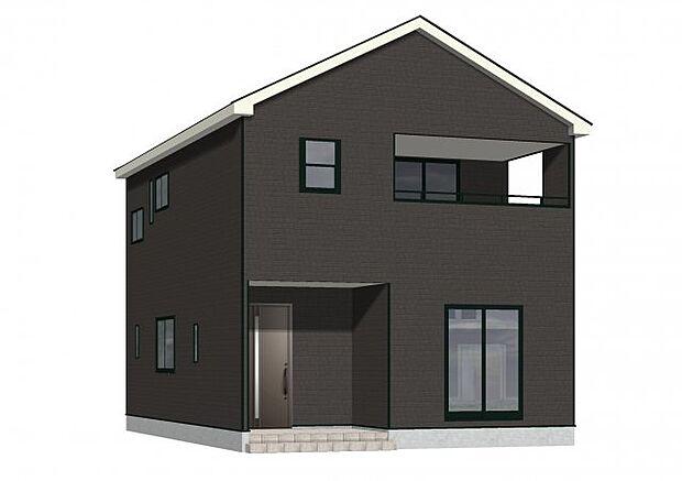 外観パース(南西側):耐震等級3取得の地震に強い住宅です!