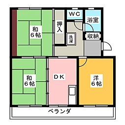 桜ハイツII[2階]の間取り