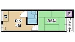 香露園ハイツ[201号室]の間取り
