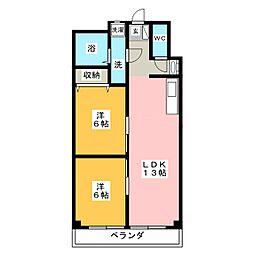 ロイヤル太平洋[3階]の間取り