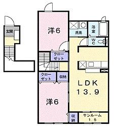 クロシェットII[2階]の間取り