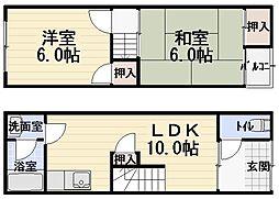 [一戸建] 大阪府守口市八雲東町2丁目 の賃貸【/】の間取り