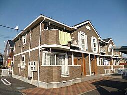 東京都羽村市羽中3丁目の賃貸アパートの外観