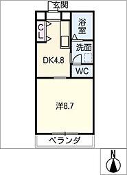 レジデンスフローラ[1階]の間取り