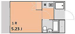 シルフィード恵比寿イースト 4階ワンルームの間取り
