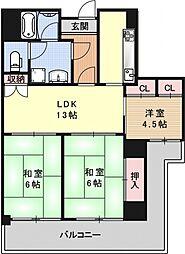 MUROMACHI PLACE[1102号室号室]の間取り