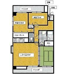浄水コスモスハイツ[2階]の間取り