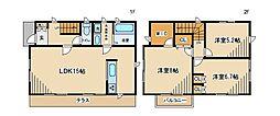 [テラスハウス] 東京都府中市若松町1丁目 の賃貸【/】の間取り