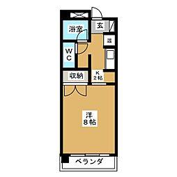 第5庭園ビル[3階]の間取り