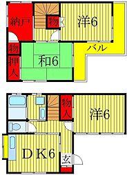[一戸建] 千葉県松戸市五香2丁目 の賃貸【/】の間取り