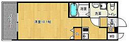 「アクアプレイス京都西院」[4階]の間取り