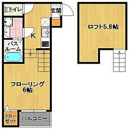 専任新築 六本松4丁目[1階]の間取り