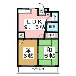 ロイヤル青葉[2階]の間取り