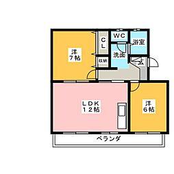 グレースバレー[1階]の間取り