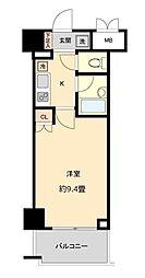 仙台市地下鉄東西線 国際センター駅 徒歩10分の賃貸マンション 2階1Kの間取り