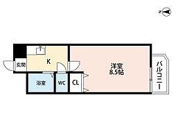 ビラプリンス7[6階]の間取り