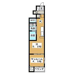 フェリーズ南仙台[1階]の間取り