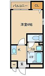 兵庫県尼崎市昭和通4丁目の賃貸マンションの間取り