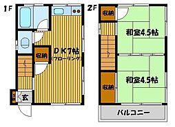 [一戸建] 東京都板橋区坂下1丁目 の賃貸【/】の間取り