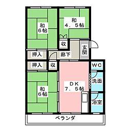 第一小野ハイツ 512号室[5階]の間取り