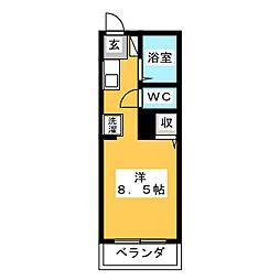 ガーデニア21S棟[1階]の間取り