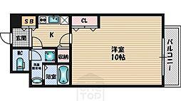 アスール江坂[8階]の間取り