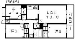 プレスタ杭全[11階]の間取り