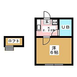 ロフティ中江I[2階]の間取り