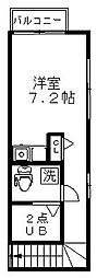 東京都杉並区西荻北2丁目の賃貸アパートの間取り