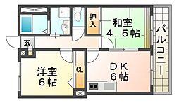 プチ・クレイン[2階]の間取り