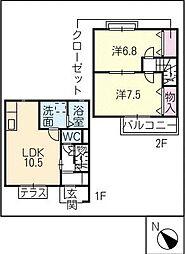 [タウンハウス] 愛知県碧南市幸町2丁目 の賃貸【/】の間取り