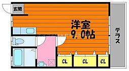 岡山県倉敷市生坂丁目なしの賃貸アパートの間取り