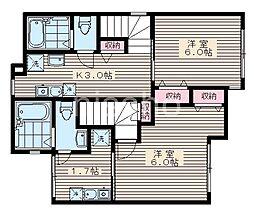 7777-仮)ルミエール中野新橋 3階1Kの間取り