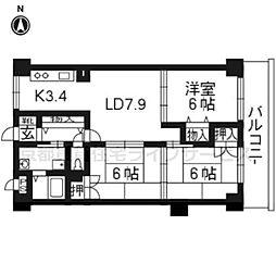 アバンサール天神川(NO.82)[302号室]の間取り